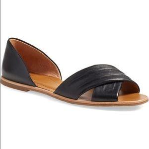 Franco Sarto Shoes - Franco Sarto Vala black d'orsay sandals flats 7.5